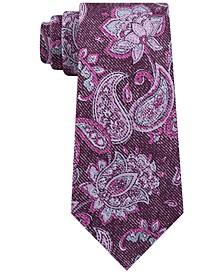 Men's Fine Line Paisley Tie