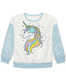 Evy of California Big Girls Unicorn Sweatshirt