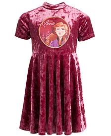 Little Girls Frozen Velvet Anna Dress