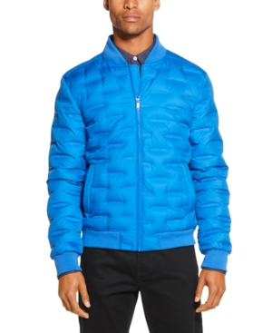 Dkny Men S Quilted Bomber Jacket In Princess Blue Modesens