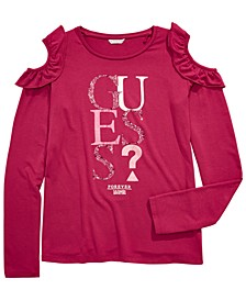Big Girls Ruffle Cold Shoulder T-Shirt