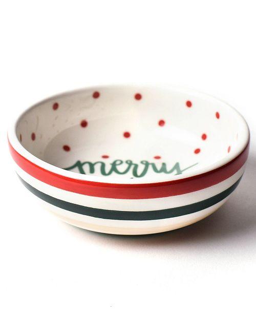 Coton Colors Merry Christmas Round Trinket Bowl