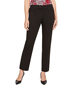 Pull-On Straight-Leg Dress Pants