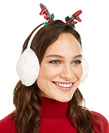 Cable Knit Reindeer Earmuffs, Created For Macy's