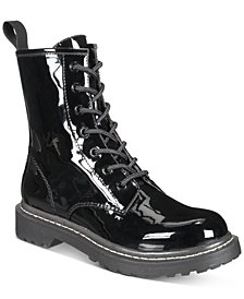 Wild Pair Ryyder Lace-Up Lug Sole Combat Booties, Created for Macy's