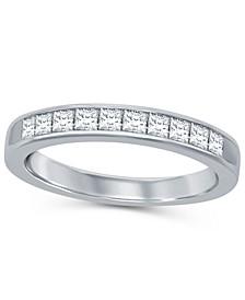 Princess Cut Diamond (1/2 ct. t.w.) Channel Band in 14K White Gold