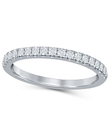 Diamond (1/4 ct. t.w.) Prong Band in Platinum