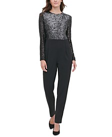 Sequined Straight-Leg Jumpsuit