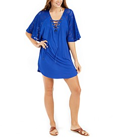Resort Lace-Up Tunic Cover-Up