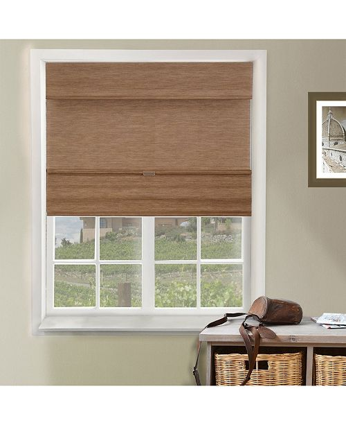 """Chicology Cordless Magnetic Roman Shades, Privacy Fabric Window Blind, 27"""" W x 64"""" H"""