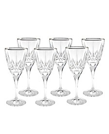 Red Wine Goblets with 24K Trim - Set of 6