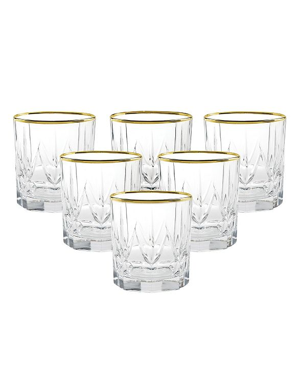 Lorren Home Trends Chic Double Old Fashion Tumblers - Set of 6