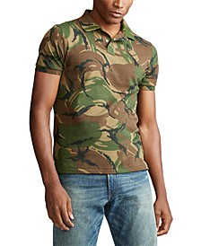 Men's Big & Tall Classic Fit Camouflage Cotton Polo