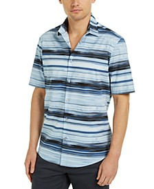 Men's Classic-Fit Stripe Shirt, Created For Macy's