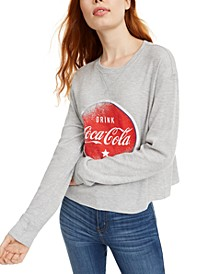 Juniors' Coca-Cola Graphic-Print Thermal Top