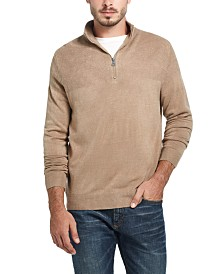 Weatherproof Vintage Men's Soft Touch Quarter-Zip Sweater