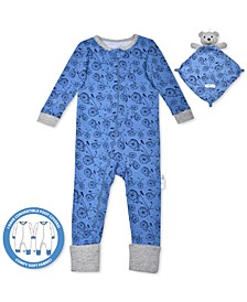 Baby Boys 2-Pc. Bike-Print Pajama & Bear Blankie Buddy Set, Created For Macy's