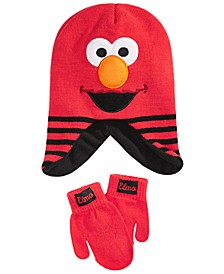 Toddler Boys & Girls 2-Pc. Elmo Hat & Mittens Set