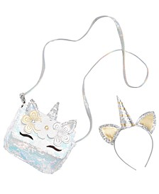 Little & Big Girls 2-Pc. Unicorn Headband & Bag Set