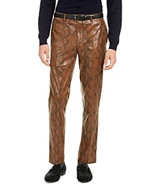 Men's Brown Snakeskin Pants