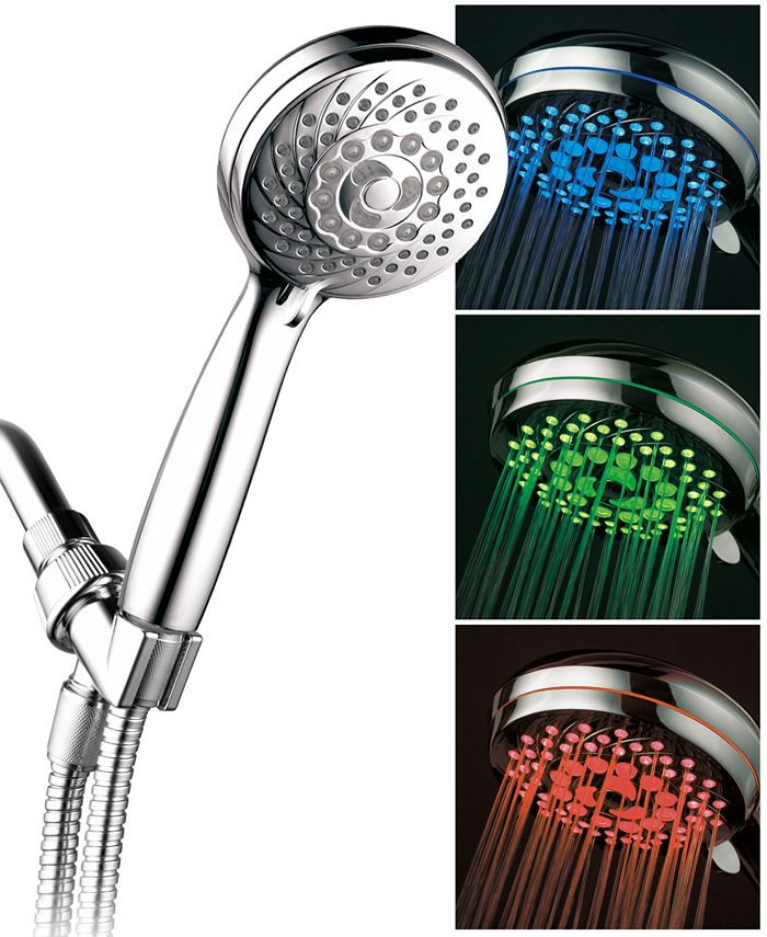 HotelSpa - 7-setting LED Hand Shower with Color-Changing Temperature Sensor