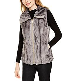 Marled Faux-Fur Vest