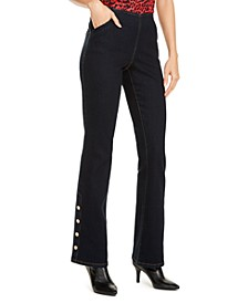 INC Snap-Hem Bootcut Jeans, Created for Macy's