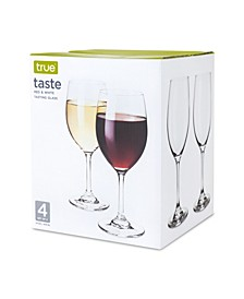 True Taste Wine Tasting Glass- Set of 4