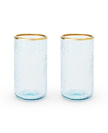 Twine Seaside Deep Bubble Glass Tumbler Set