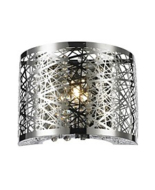 Aramis 1-Light Chrome Finish and Clear Crystal Wall Sconce Light