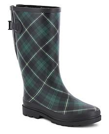 Women's Wide-Calf Rubber Rain Boots