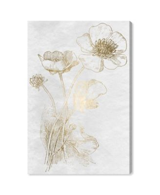 Poppy Sketch Gold Canvas Art, 24