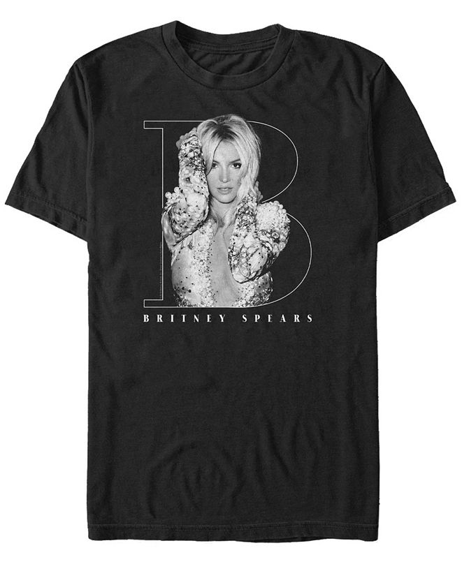Fifth Sun Britney Spears Men's Big B Logo Portrait Short Sleeve T-Shirt