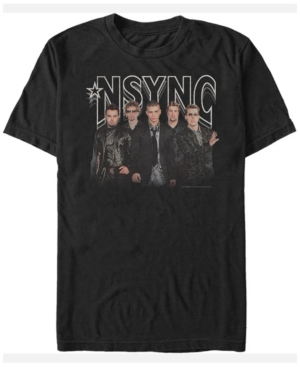 N'Sync Men's Glam Group Short Sleeve T-Shirt
