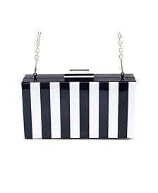 Like Dreams Striped Pippa Box Clutch