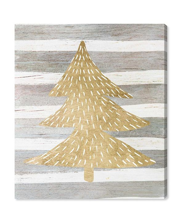 "Oliver Gal Gold Tree Canvas Art, 30"" x 36"""