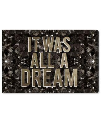 It Was All A Dream Champagne Canvas Art, 45