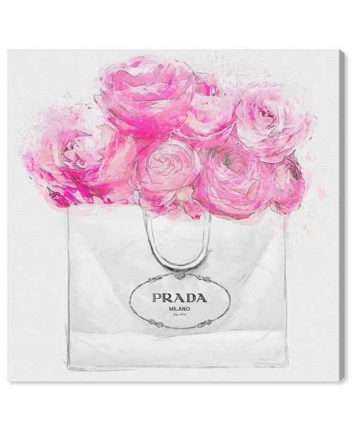 """Oliver Gal Shopping for Peonies Canvas Art, 16"""" x 16"""""""