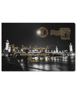 Paris Gold Letter Canvas Art, 36