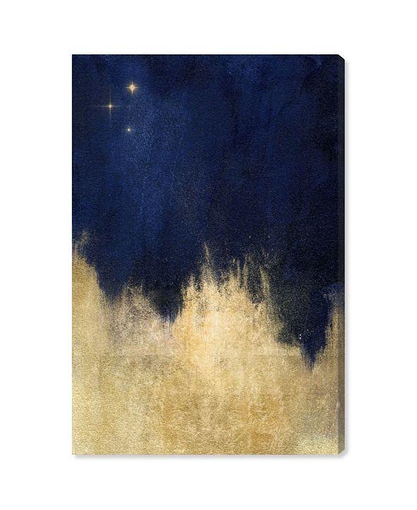 "Oliver Gal Stars At Midnight Canvas Art, 24"" x 16"""