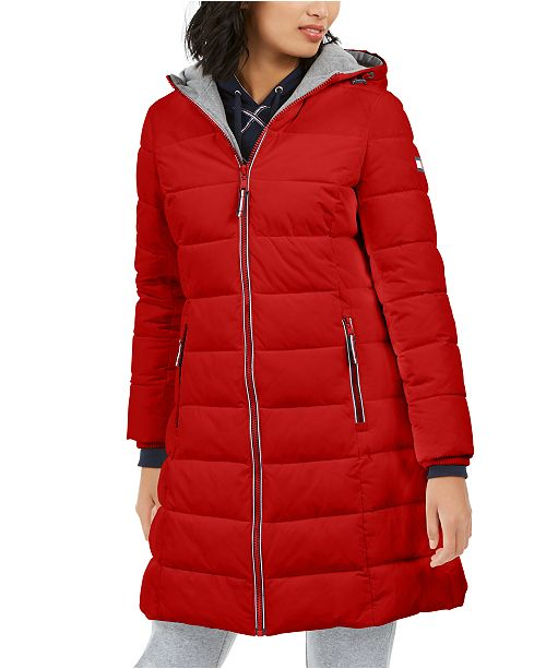 Tommy Hilfiger Front-Zip Hooded Puffer Coat