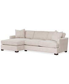 Juliam 2-Pc. Fabric Sofa with Chaise, Created for Macy's