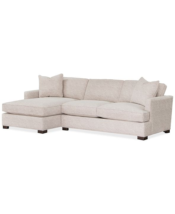Furniture Juliam 2-Pc. Fabric Sofa with Chaise, Created for Macy's