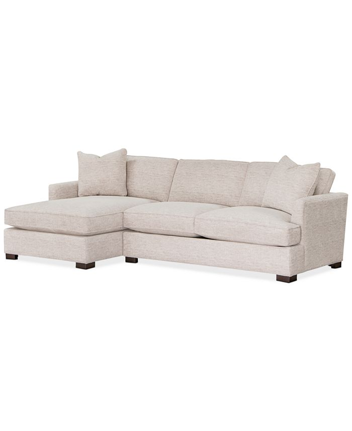Furniture - Juliam 2-Pc. Fabric Sofa with Chaise