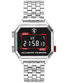 Ferrari Men's Digital DigiDrive Stainless Steel Bracelet Watch 34mm