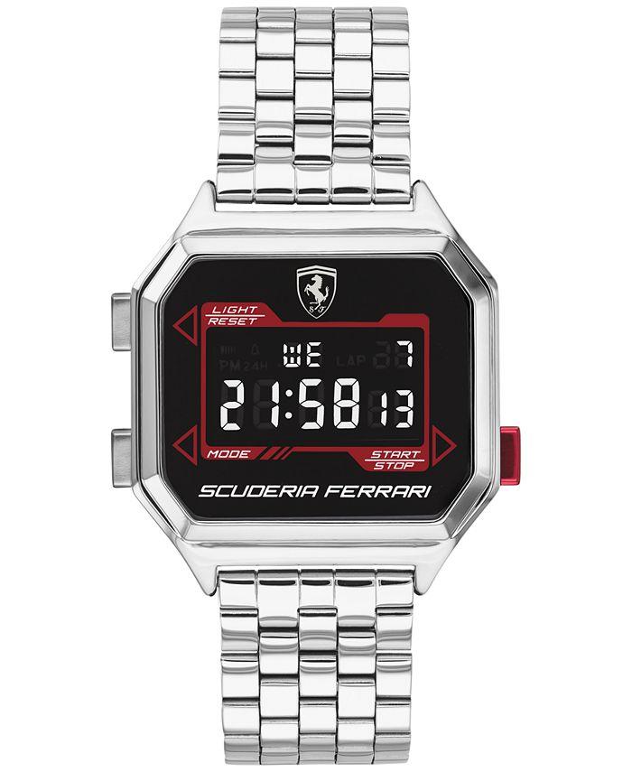 Ferrari - Men's Digital DigiDrive Stainless Steel Bracelet Watch 34mm