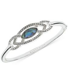 Silver-Tone Pavé & Stone Bangle Bracelet