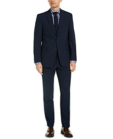 Men's Modern-Fit THFlex Stretch Navy Check Suit Separates