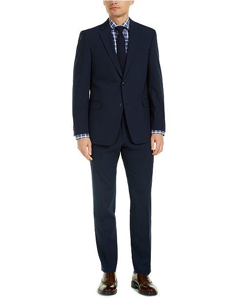 Tommy Hilfiger Men's Modern-Fit THFlex Stretch Navy Check Suit Separates