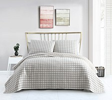 Tim Matelassé Plaid 3-Pc. Full/Queen Quilt Set